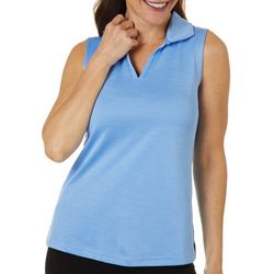 Tournament Collection Womens Heathered Sleeveless Polo Shirt