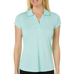Tournament Collection Womens Striped Polo Shirt