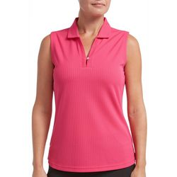 Tournament Collection Womens Textured Sleeveless Polo Shirt