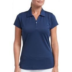 Tournament Collection Womens Short Sleeve Solid Polo Shirt