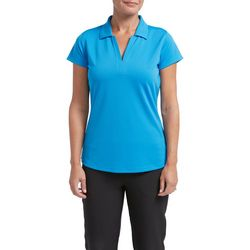 Tournament Collection Womens Solid Textured Polo Shirt