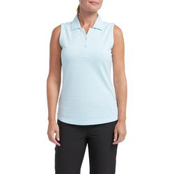 Tournament Collection Womens Subtle Stripe Sleeveless Polo