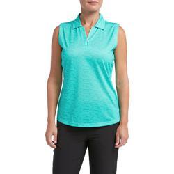 Womens Graphic Dot Sleeveless Polo