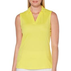 Womens Airflux Solid Sleeveless Polo Shirt