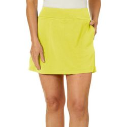 Womens Solid Airflux Golf Skort