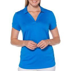 PGA TOUR Womens Airflux Solid Short Sleeve Polo Shirt