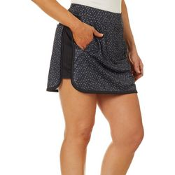 PGA TOUR Womens Ditsy Floral Print Pull On Skort