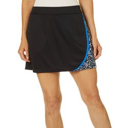 Womens Driflux Colorblock Paint Splatter Skort