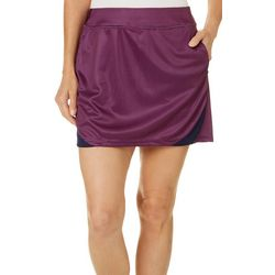 PGA TOUR Womens Driflux Grid Print Pull On Skort
