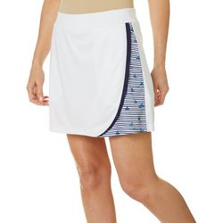 Womens Colorblock Stripe Print Pull On Skort