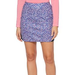 Womens Abstract Print Skort