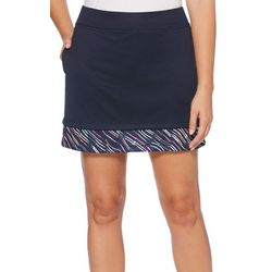 PGA TOUR Womens Airflux Solid Trim Knit Skort