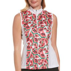 PGA TOUR Womens Printed Sleevless Top