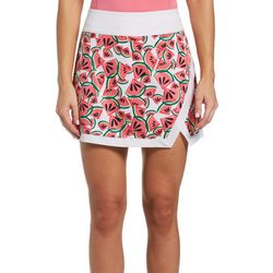 PGA TOUR Womens Printed Knit Solid Skort