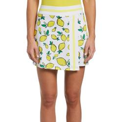 Womens Lemon Printed Knit Solid Skort