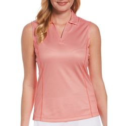 PGA TOUR Womens Solid Sleevless Top