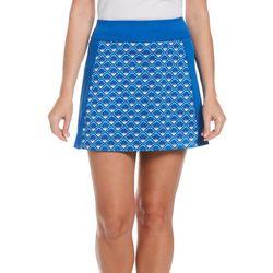 PGA TOUR Womens Printed Knit Solid Skort
