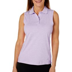 Etonic Womens Sleevless Spacedyed Polo Shirt