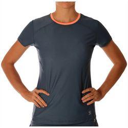 Sofibella Womens Light Short Sleeve Ringer Active Top