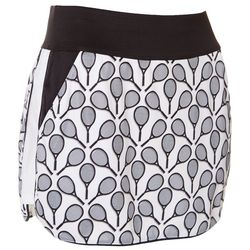 Grand Slam Womens Tennis Racquet Print Skort