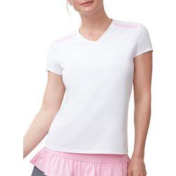 Fila Womens Simply Smashing V-Neck Cap Sleeve T-Shirt