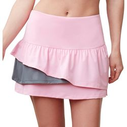 Womens Tired Performance Tennis Skort