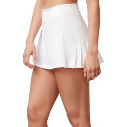 Fila Womens Windowpane Pleated Back Performance Tennis Skort