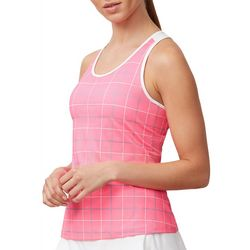 Fila Womens Windowpane Print Racerback Tank Top