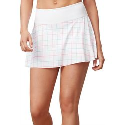 Womens Windowpane Print Flirty Performance Tennis Skort
