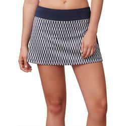 Fila Womens Argyle Graphic Print Tennis Skort