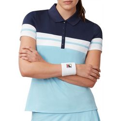 Fila Womens Heritage Striped Short Sleeve Polo
