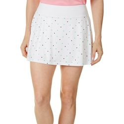Grand Slam Womens Tennis Ball Polka Dot Print Skort
