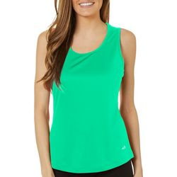 Grand Slam Womens Solid  Keyhole Tank Top