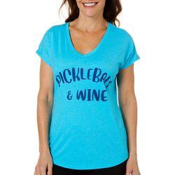 Anvil Womens Pickleball & Wine T-Shirt