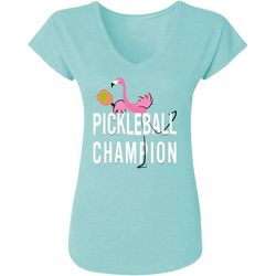 Anvil Womens Flamingo Pickleball Champion T-Shirt