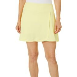 Dink Up Womens Piqued Solid Pull On Skort