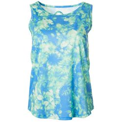 Dink Up Womens Tie Dye Keyhole Sleeveless Pickleball Shirt