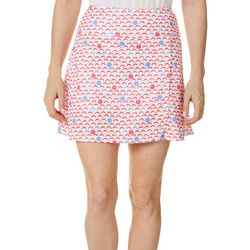 Dink Up Womens Pickleball Print Pull On Skort