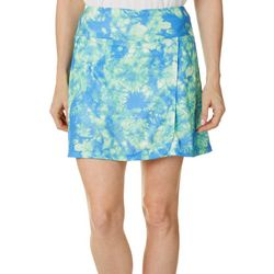 Dink Up Womens Piqued Tie Dye Pull On Skort