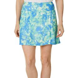 Womens Piqued Tie Dye Pull On Skort