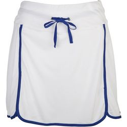 Double Bounce Womens Solid Contrast Trim Skort