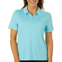 Womens Solid Short Sleeve Pickleball Polo Shirt