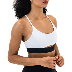 Spalding Womens Banded Strappy Back Sports Bra
