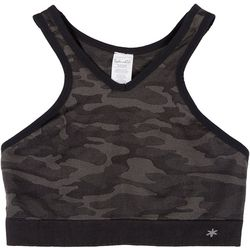 Splendid Womens Camo Seamless Sports Bra