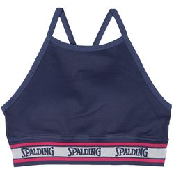 Spalding Womens Ribbed High Neck Sports Bra