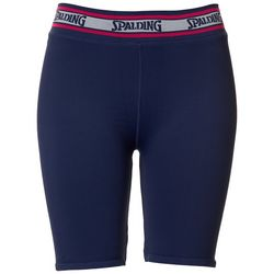 Spalding Womens Solid Ribbed Bike Shorts
