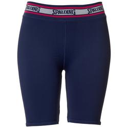 Womens Solid Ribbed Bike Shorts
