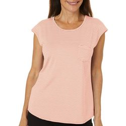 Womens Striped Scoop Neck Tank Top