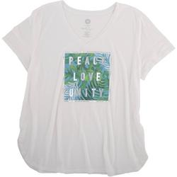 Womens Peace, Love, Unity Short Sleeve Shirt