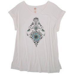 Brisas Womens {rint Design Short Sleeve Shirt